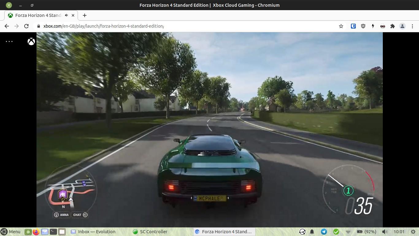 Forza Horizon 4 running on Ubuntu Mate